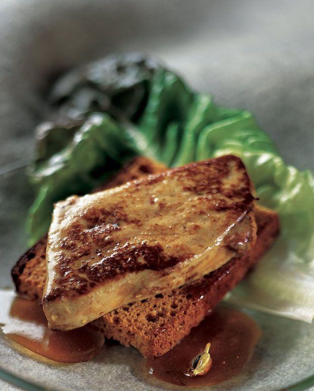 Toasts de pain d'épices au foie gras poêlé