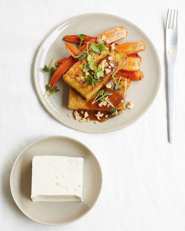 Tofu et carottes rôties, sauce miso