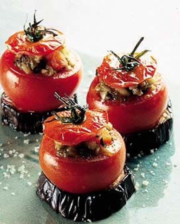Tomates au caviar d'aubergine