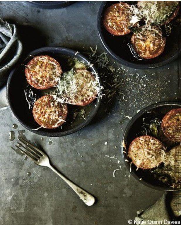 Tomates confites au manchego