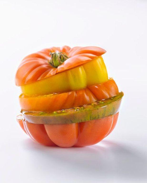 Tomates aux oeufs et polenta provençale