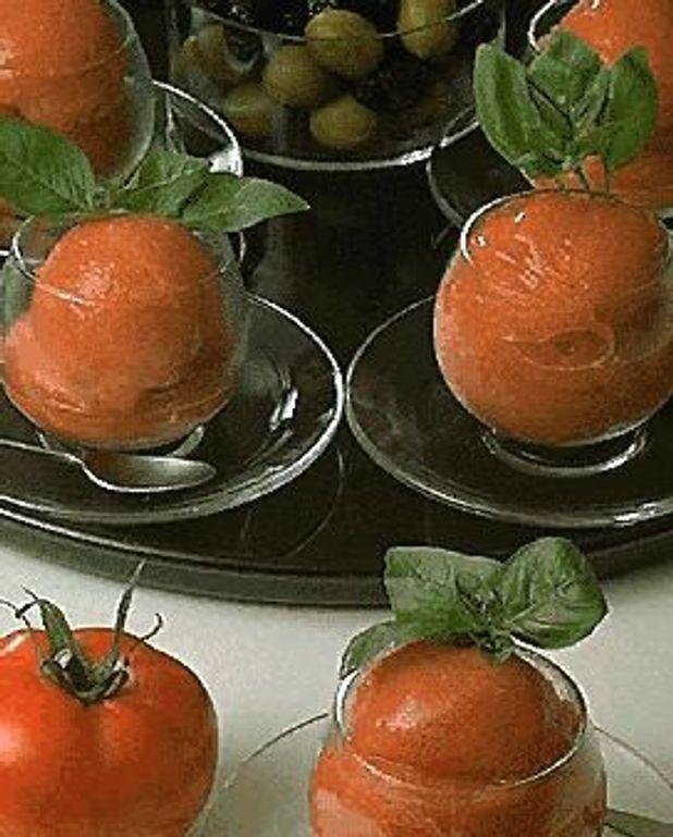 Tomates en sorbet