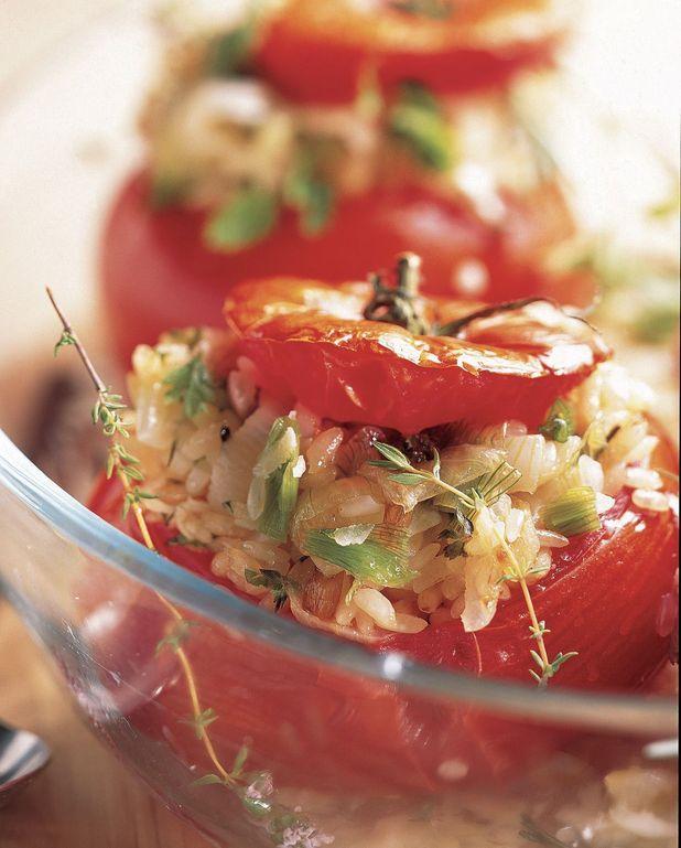 Tomates farcies au risotto de parmesan