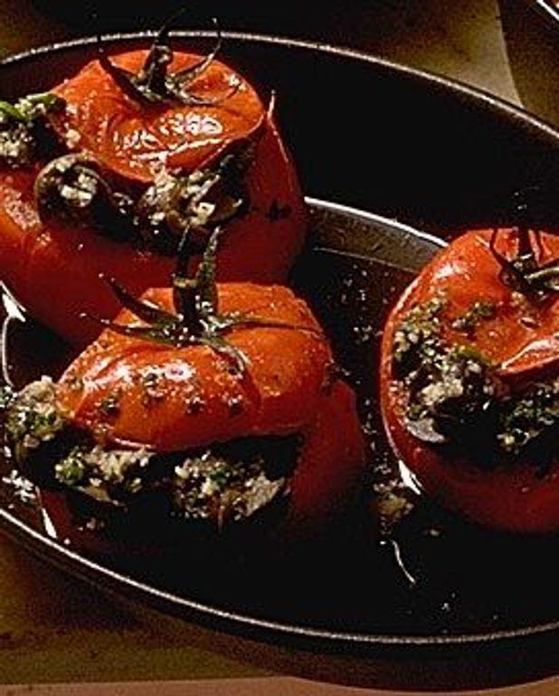 Tomates farcies aux escargots petits-gris