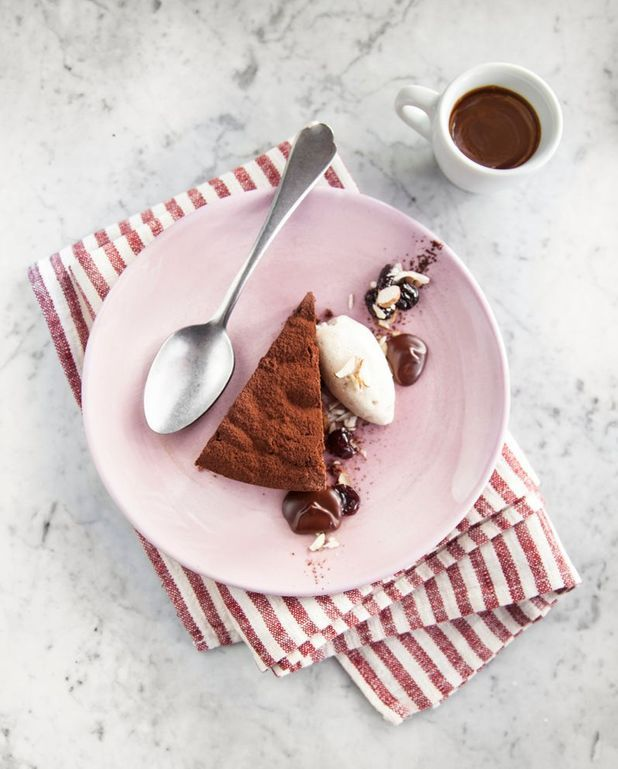Torta capri au chocolat noir