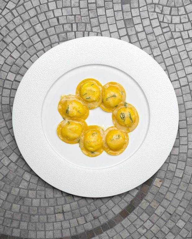 Tortelli ricotta, citron et menthe
