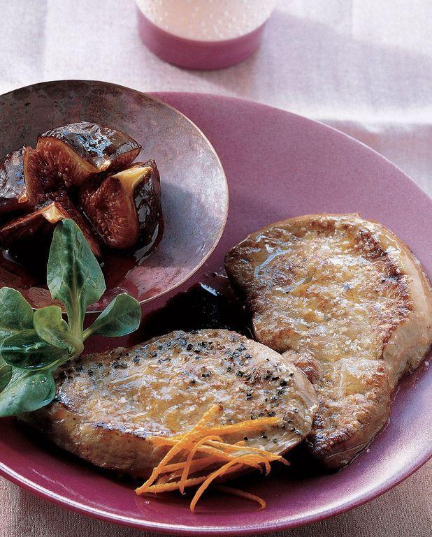 Tournedos de foie gras rôti et salade de figues fraîches