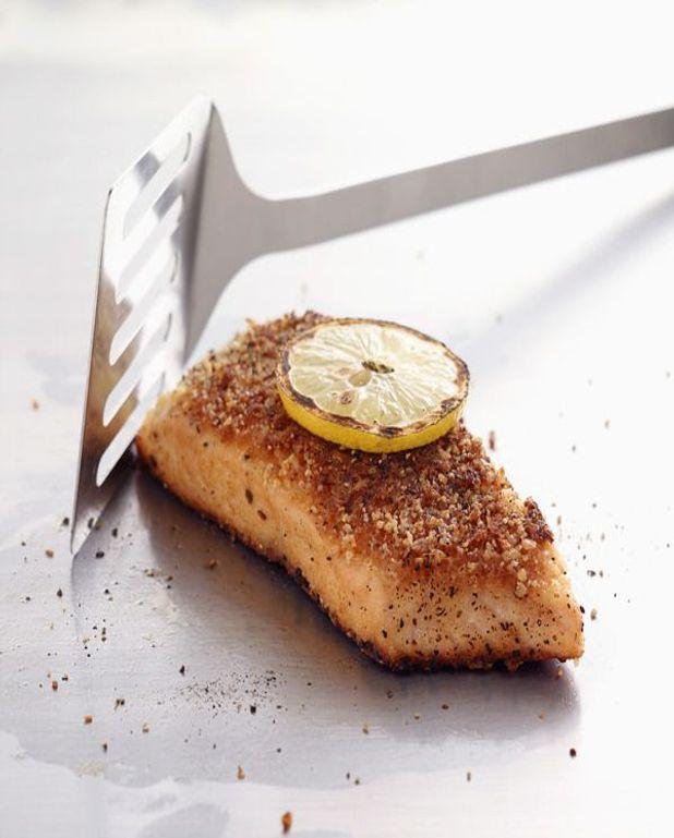 Tournedos de saumon au romarin et poivrons