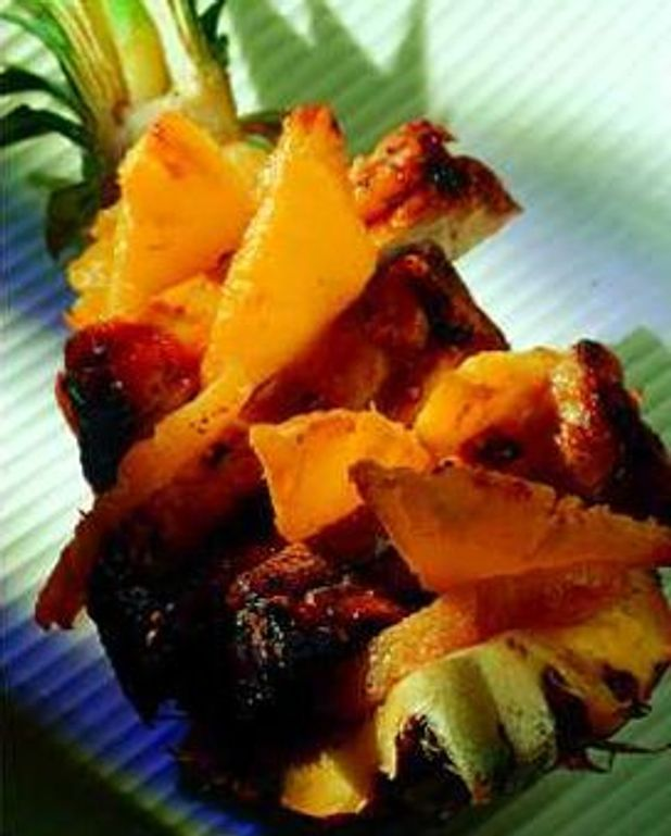 Travers de porc à l'ananas
