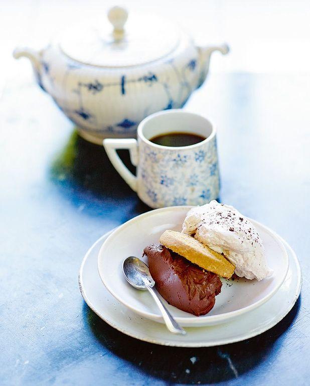 Trifle chocolat et palets au beurre sans gluten