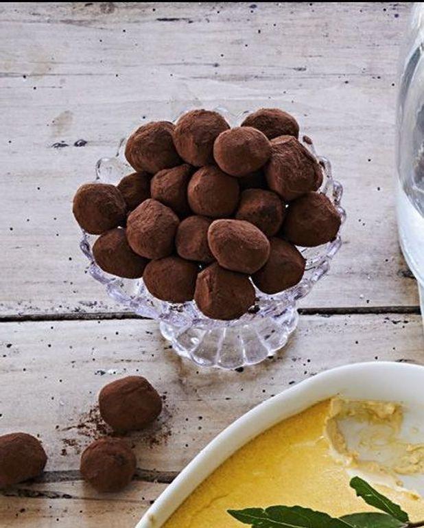 Truffes chocolat au lait et caramel