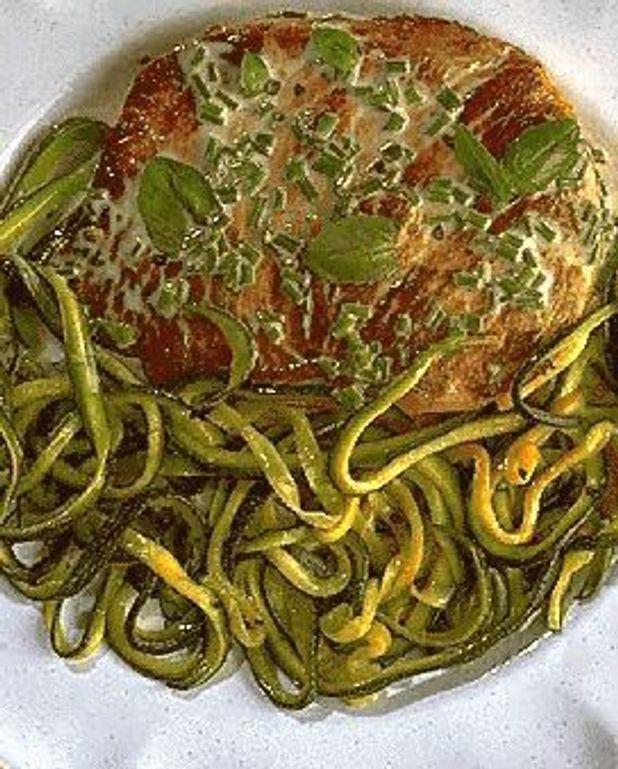 Veau aux spaghettis de courgette
