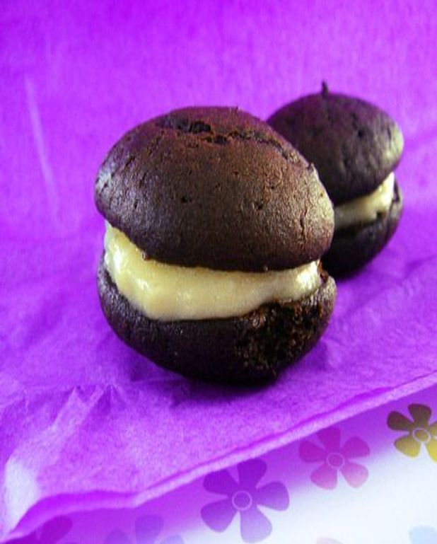 Whoopies cacao et lemon curd