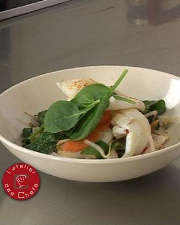 Wok de calamars au soja et à l'estragon