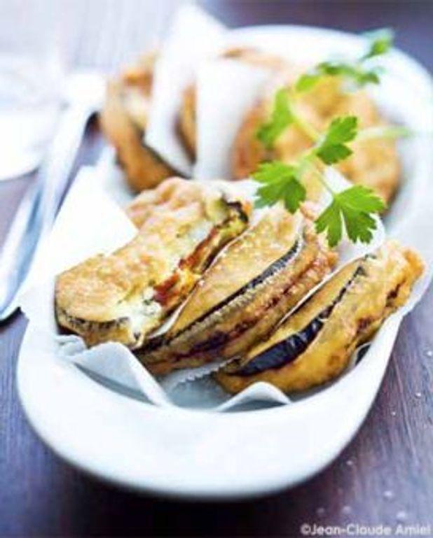 Beignets d'aubergines et chorizo