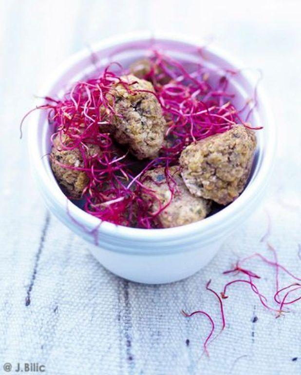 Boulettes de sarrasin et de lentilles aux épices