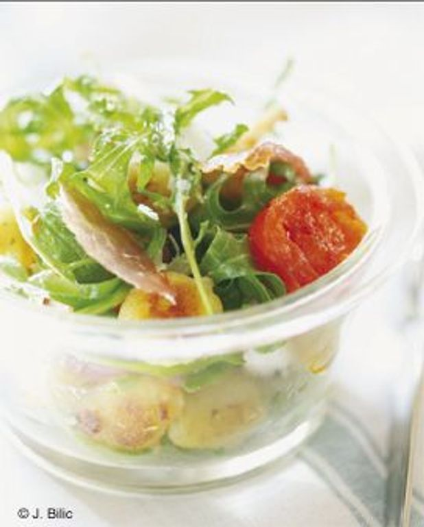 Salade de gnocchis à la roquette