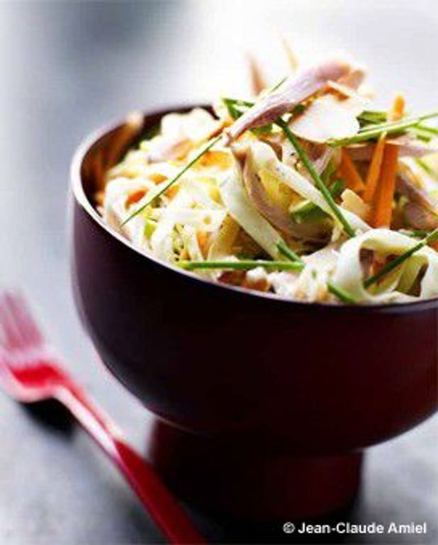 Salade de chou, carottes et poulet