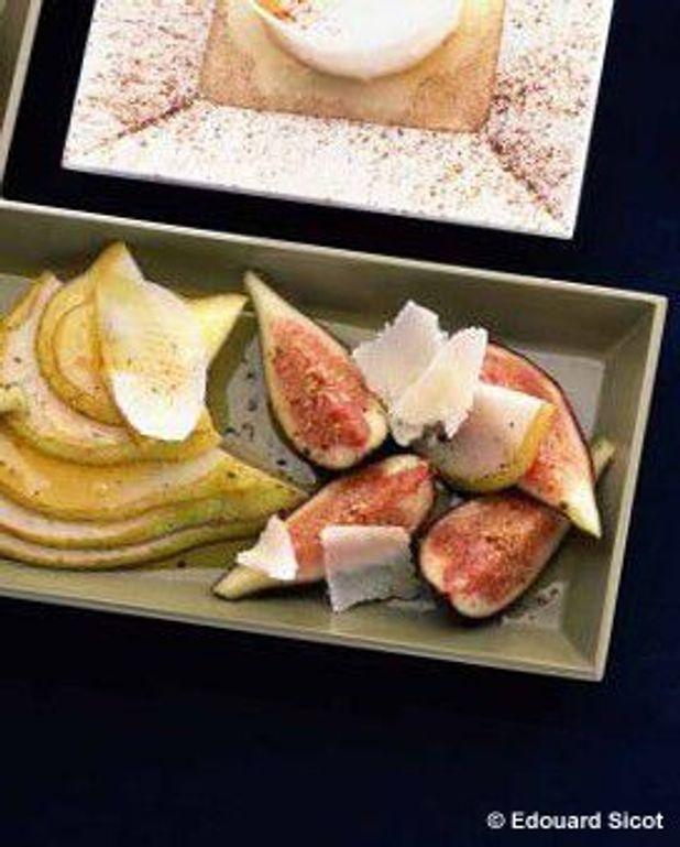 Salade de figues, poires et parmesan