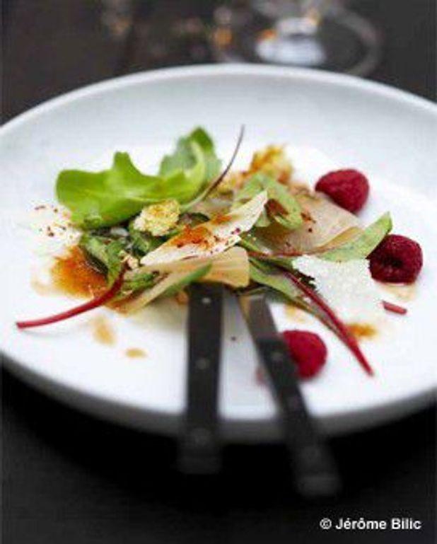 Salade de marlin fumé, framboises