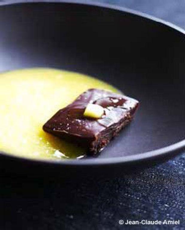 Chocolat, huile d'olive, orange
