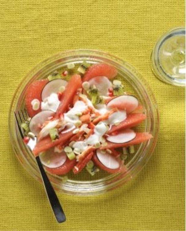 Salade de pamplemousse au crabe