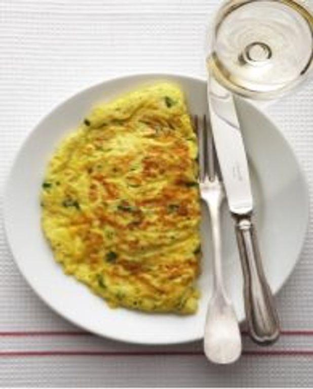 Omelette pliée aux herbes