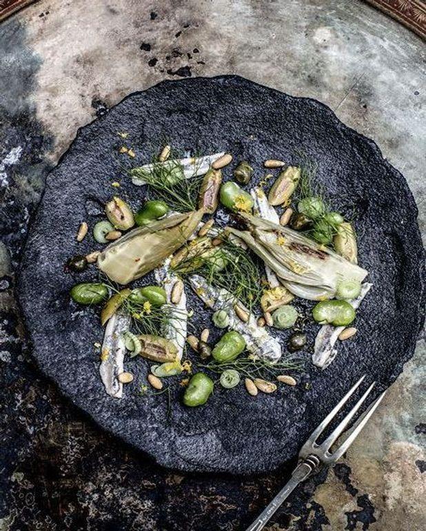Anchois marinés et légumes façon tajine