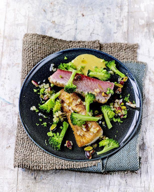 Bonite aux pistaches et brocolis