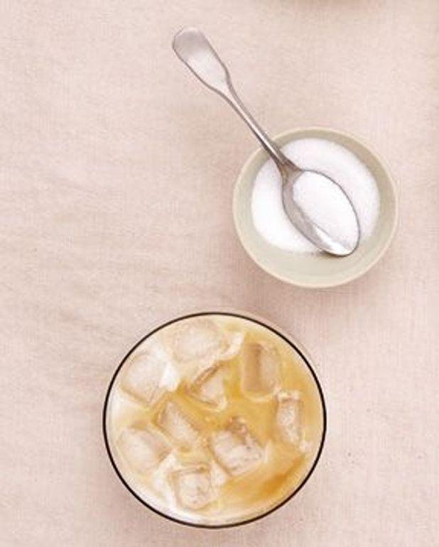 Café frappé au lait d'amande