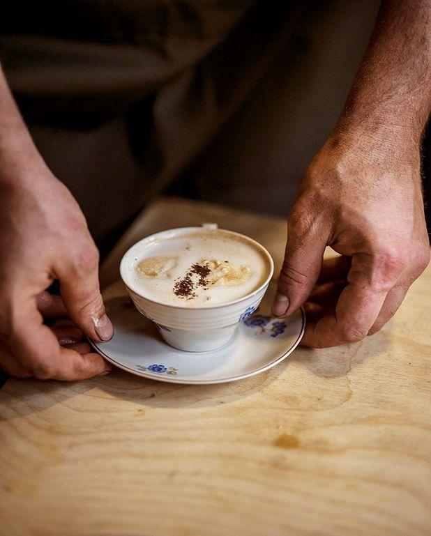 Cappuccino de crevettes grises de la Mer du Nord