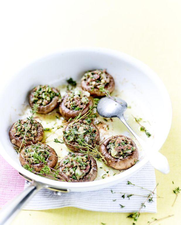 Champignons farcis au jambon de Parme