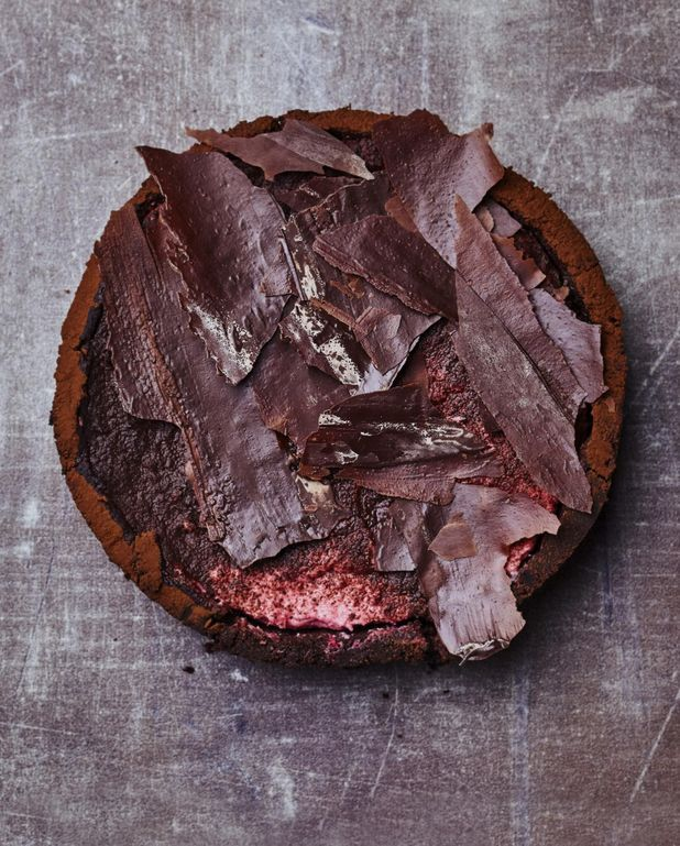 Cheesecake cacao-framboise