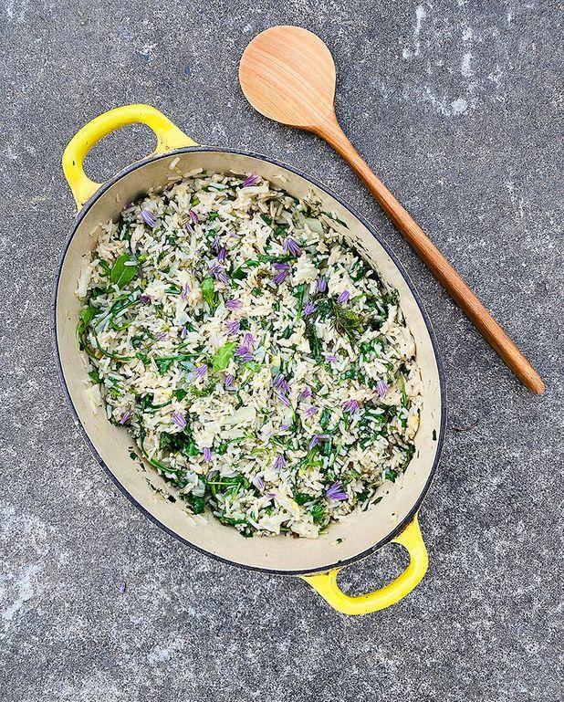 Cocotte de riz au fenouil et aux herbes