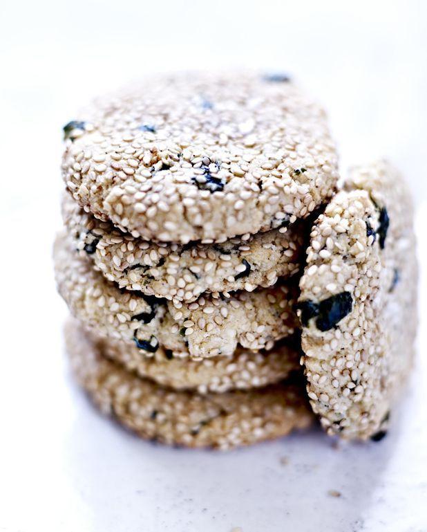 Cookies de tahini et algues nori