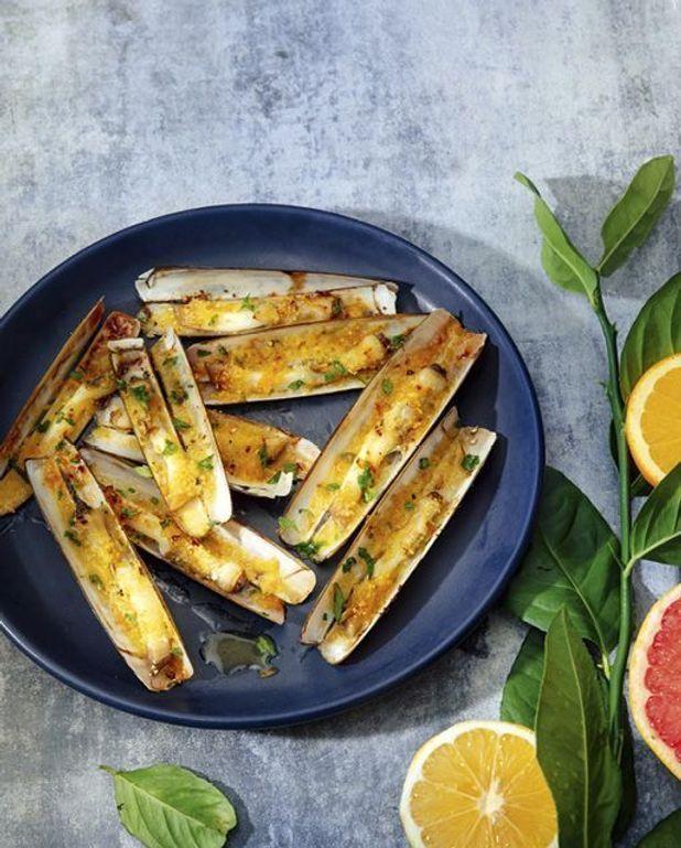 Couteaux au beurre d'agrumes