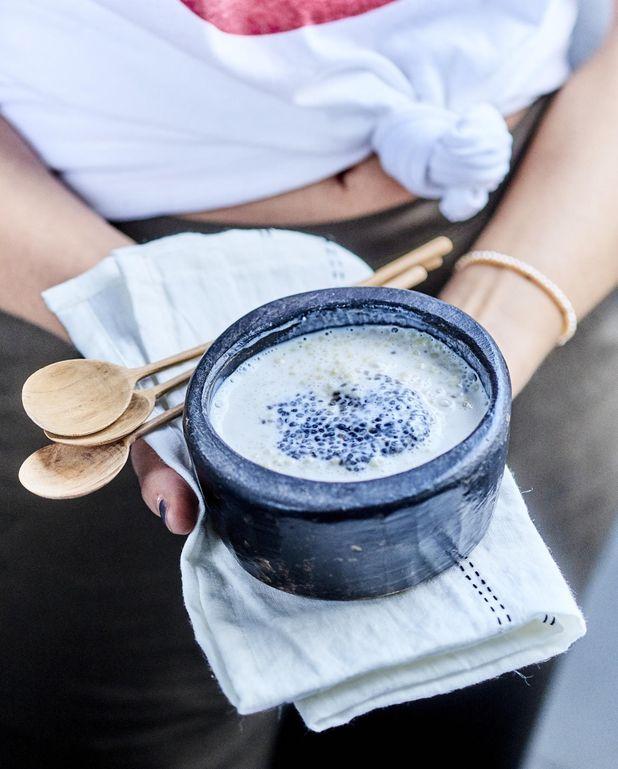 Crème de millet au miso blanc et graines de chia