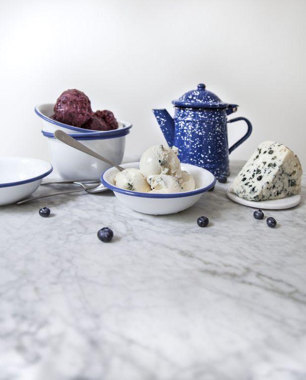 Crème glacée au roquefort bio