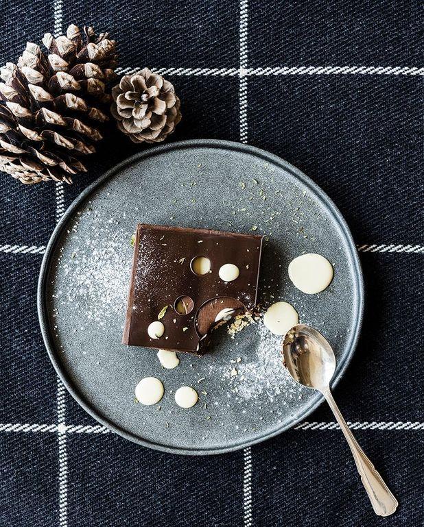 Crémeux au chocolat et crème anglaise au café