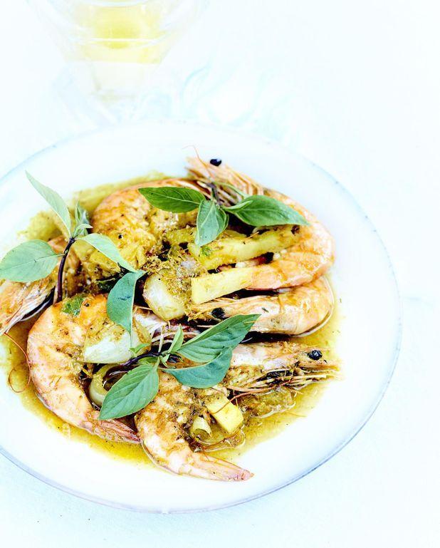 Curry de crevettes ananas et cajou