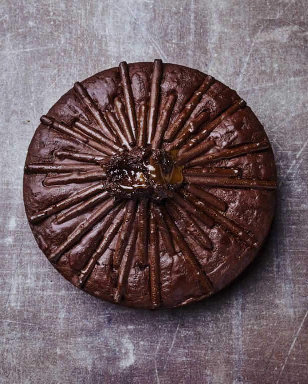 Gâteau au chocolat et Mikado