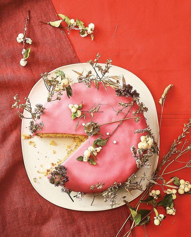 Gâteau au pamplemousse et à la pâte d'amande