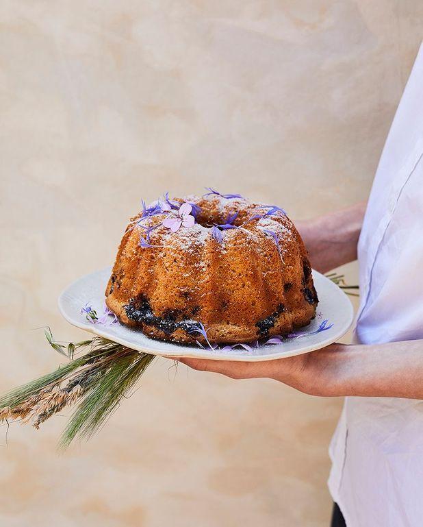 Gâteau au yaourt, citron et myrtilles