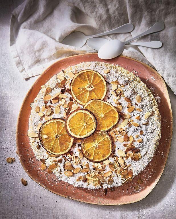 Gâteau magique aux amandes et fleur d'oranger