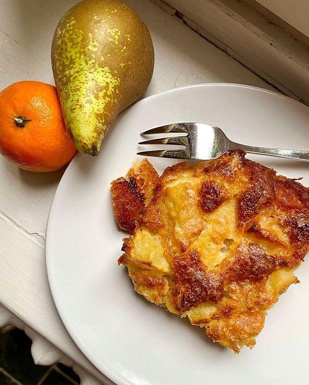 Gâteau tout simple poire et clémentine