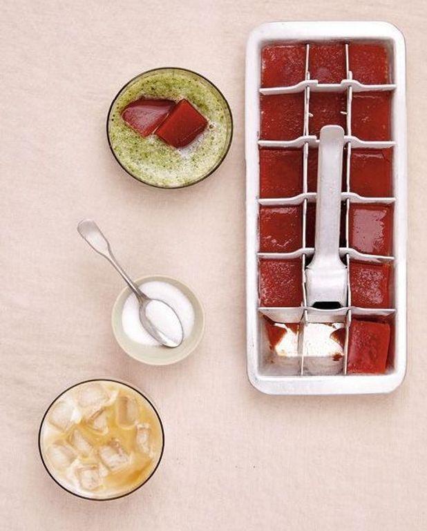 Glaçons de Bloody Mary, jus de concombre