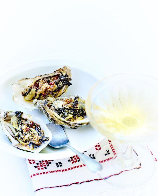 Huîtres gratinées épinard parmesan