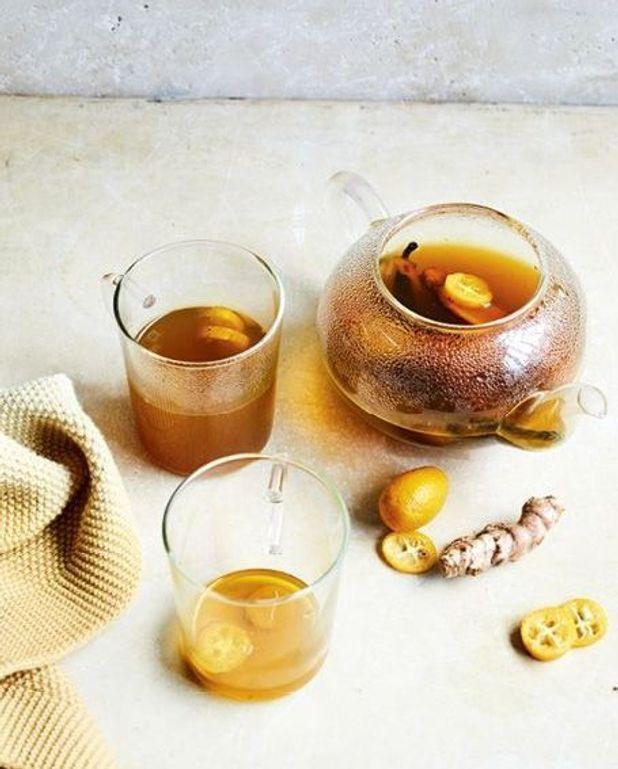 Infusion de curcuma, kumquat et vanille