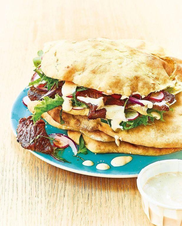 Kebab, sauce au tahini