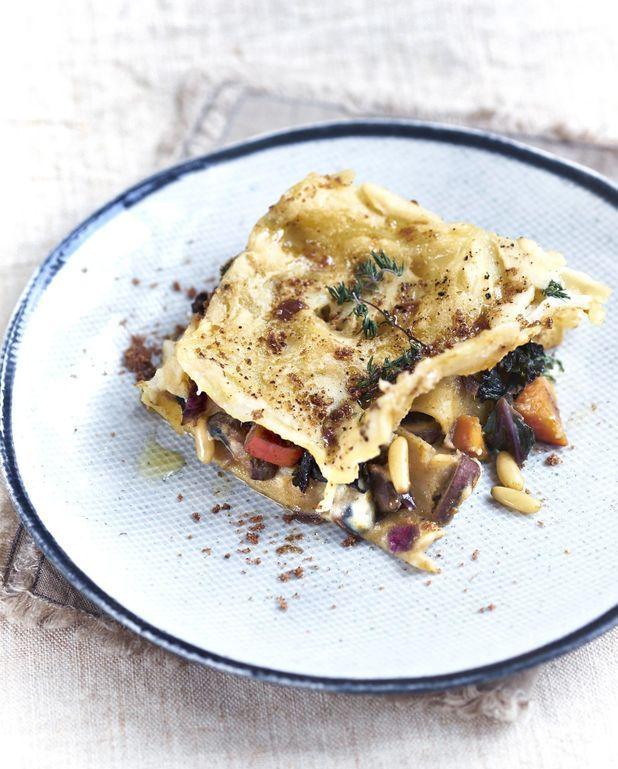 Lasagnes à la béchamel de pois chiches